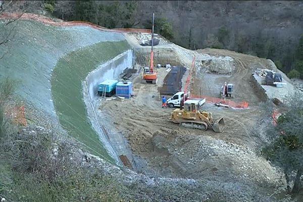 le chantier de la future station d'épuration écologique de Luceram