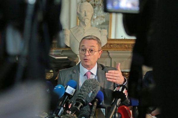 Patrice Faure, préfet du Morbihan, lors d'une conférence de presse sur le coronavirus