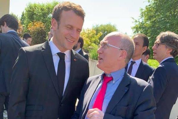 Emmanuel Macron aux obsèques de Charles Kohler
