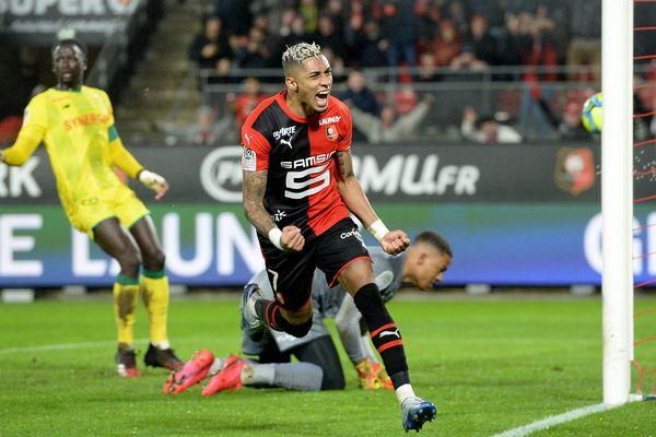 Le joueur du Stade rennais Raphinha a inscrit deux buts dont celui de la victoire des Bretons sur les Canaris du FC Nantes à l'occasion de la 22e journée de Ligue 1.