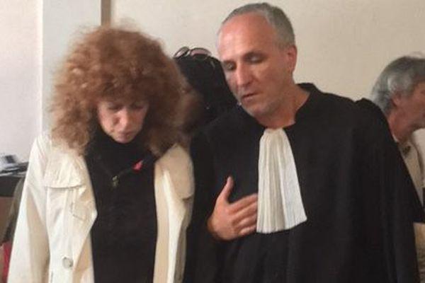 Annie Slama avec son avocat Maître Olivier Lantelme