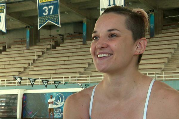 Mélanie Henique, nageuse de l'équipe de France pour les Jeux olympiques.
