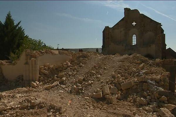 L'église d'Asnan datait du XIXème siècle.