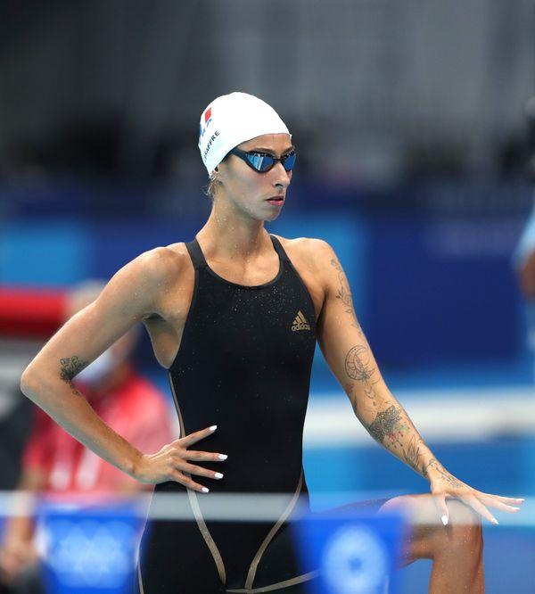 Très concentrée avant son 200m 4 nages, Fantine Lesaffre n'atteindra malheureusement pas les demi-finales
