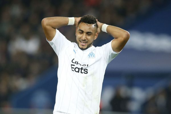 Dimitri Payet (Olympique de Marseille) lors du match de Ligue 1 face au Paris Saint Germain ( PSG ), le 27 octobre 2019.