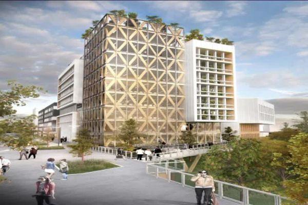 Cette tour en bois hébergera des appartements et une résidence hôtelière