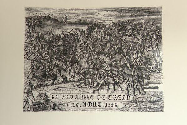 Représentation de la bataille de Crécy le 26 août 1346