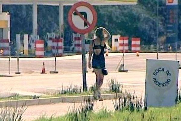 La Jonquera (Espagne) - les prostituées de rue - 17 octobre 2012.