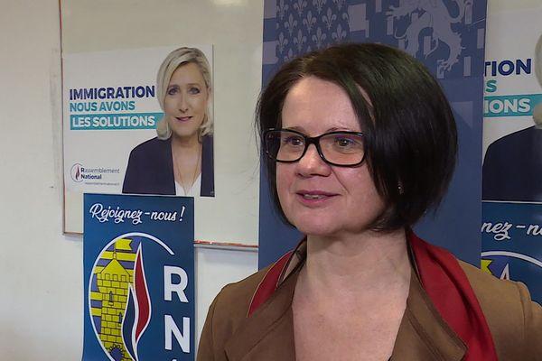 Marie-Laure Duchanoy, tête de liste RN, à Belfort