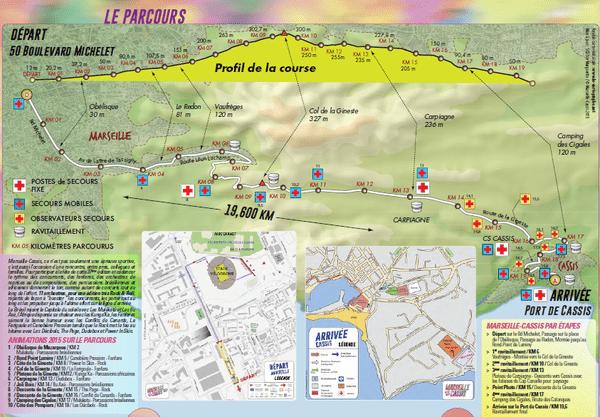 Le parcours Marseille-Cassis 2015.
