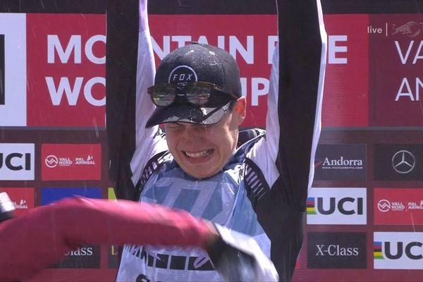 Loris Vergier, ravi de sa victoire en Andorre !