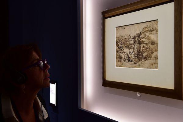 """""""Il paesaggio"""", le dessin de Léonard de Vinci qui a servi de support à cette découverte."""
