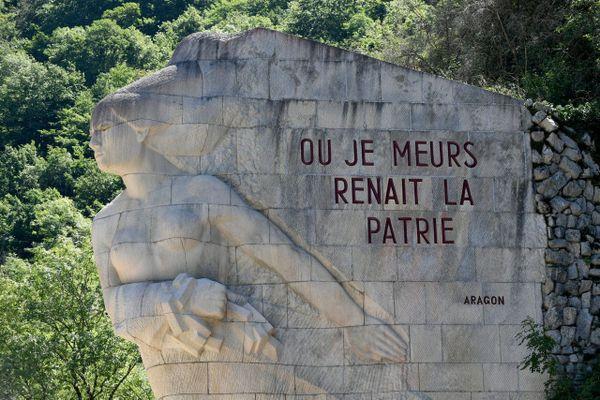 Un mémorial dédié aux Résistants, dans l'Ain.