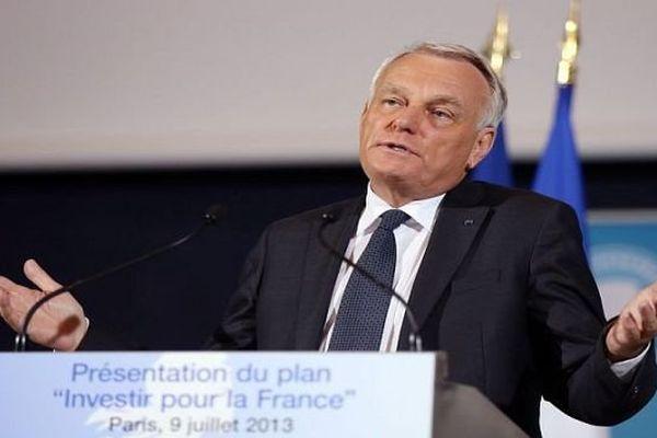 Paris - conférence de presse de présentation du plan d'investissement pour la France de Jean-Marc Ayrault - 9 juillet 2013.