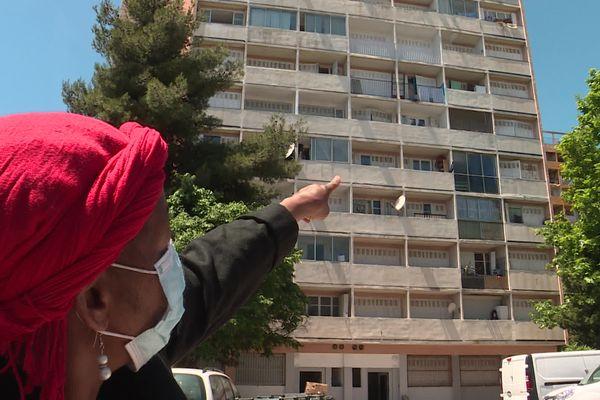 Djara Sali, propriétaire de trois appartements au Parc Corot dans le 13e arrondissement de Marseille, squattés par des Nigérians.
