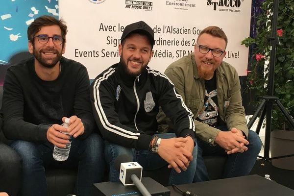 Claudio Capéo lors de la conférence de presse avant son concert à Cernay