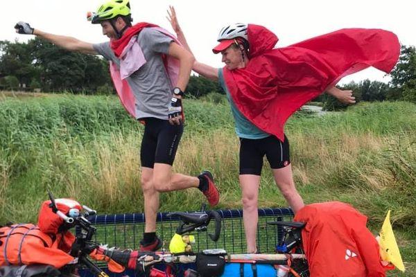 Sur les routes depuis le mois de juillet, le couple de Strasbourgeois a parcouru près de 5000 km en tandem