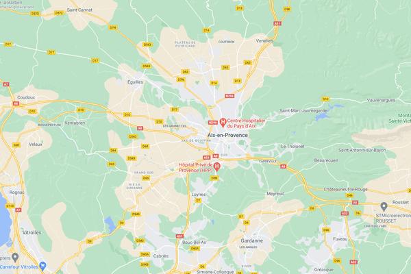 L'accident s'est déroulé boulevard Carnot, près du centre de congrès d'Aix-en-Provence