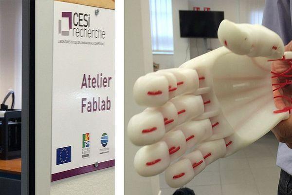 Une des réalisations de Fablab du CESI de Rouen dans le domaine de la fabrication addictive