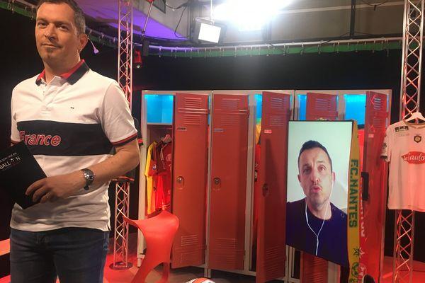 Julien Sourice, l'entraîneur d'Olympique Saumur FC, invité de l'émission #USBFOOT et d'Anthony Brulez