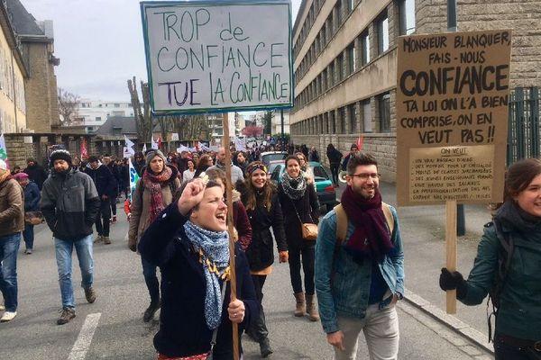 La mobilisation à Rennes contre les projets de réformes dans l'Education nationale
