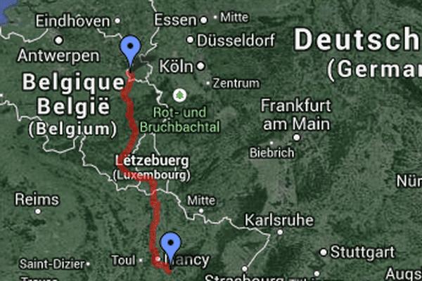 75 déplacements ont été effectués entre Maastricht et Blainville entre janvier 2012 et juillet 2013