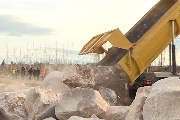 Les travaux pour éviter les inondations dans le village d'Aubord doivent bientôt s'achever - janvier 2019