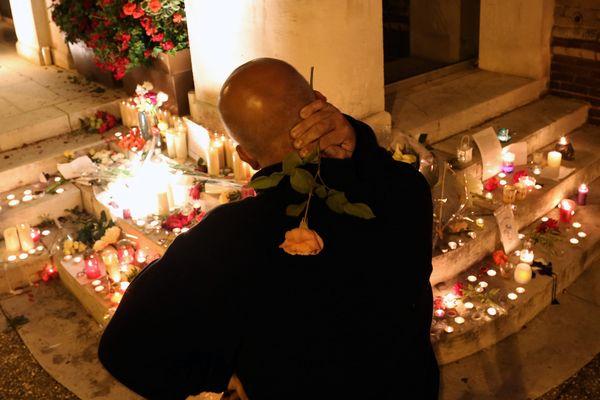 Les hommages après l'attenat à St Etienne-du-Rouvray