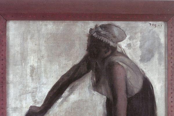 Degas, Repasseuse à contre- jour, Avignon, vers 1874,prêt du musée Angladon, © Avignon