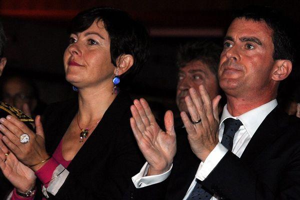 Carole Delga et Manuel Valls en octobre 2014 lors du congrès de l'ARF à Toulouse