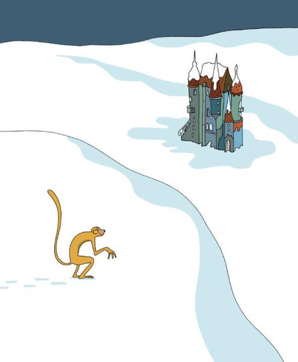 Le singe et l'épouvantail dePierre Senses, illustré par Albertine