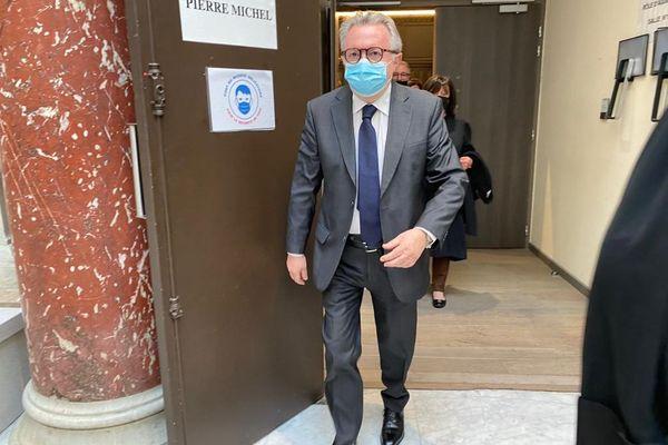 02.04.2021. L'ex président du conseil général des Bouches-du-Rhône, le sénateur Jean-Noël Guérini.