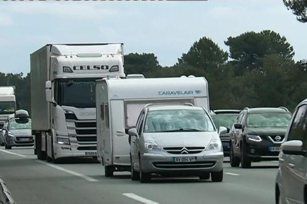 Entre 60 000 et 80 000 véhicules circulent chaque jours sur l'A63.