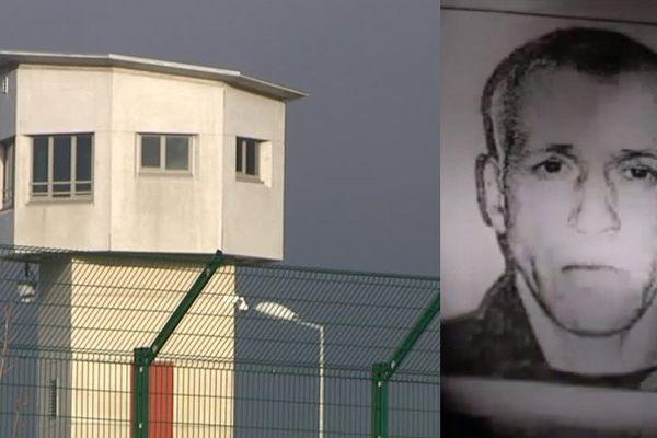 La prison de Vendin-le-Vieil. A droite, Franck Siegler, soupçonné d'avoir tué un autre détenu ce lundi.