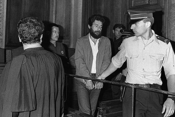 Georges Ibrahim Abdallah à son procès en 1987.