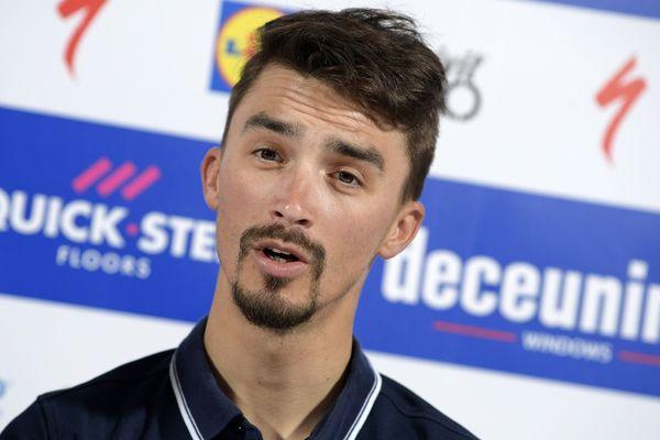 """Julian Alaphilippe s'est dit séduit vendredi par le nouveau final de Liège-Bastogne-Liège, une classique qu'il a """"depuis longtemps en tête"""" et dont la fin de parcours, modifiée cette année, lui """"plaît beaucoup""""."""