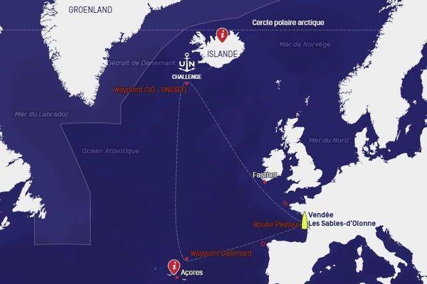 Cette course entre les Sables d'Olonne, les Açores et l'Islande est une première pour la classe Imoca.