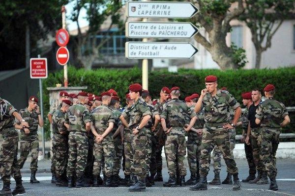 Des membres du 3ème régiment de parachutistes de marine de Carcassonne. Le 29 juin 2008, jour de la fusillade.