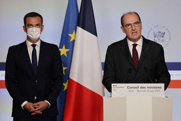 Jean Castex et Olivier Véran, le 16 juin 2021.