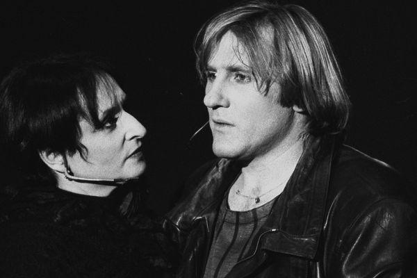 Tours, le 10 avril 1986, Gérard Depardieu et Barbara sont en tournée.