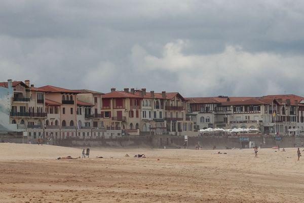 Hossegor, la plage très prisée par les baigneurs.