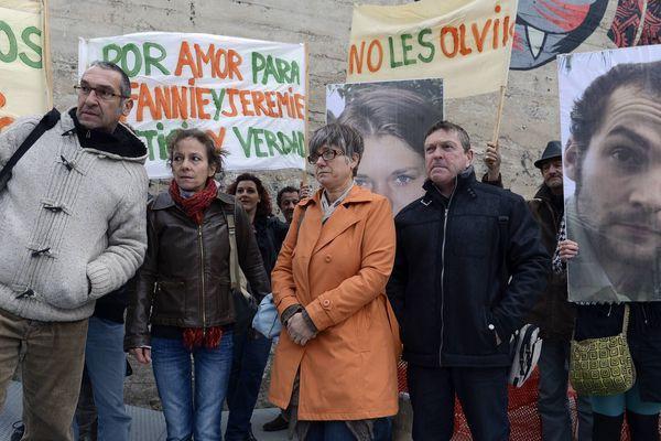 Les parents de Fannie et Jérémie,  le 30 avril 2013 à Nantes