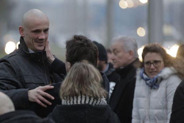 L'ex-boxeur Christophe Dettinger à sa sortie de la maison d'arrêt de Fleury-Mérogis en février dernier.