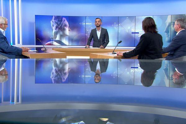 François Rebsamen (PS), Emmanuel Bichot (LR) et Stéphanie Modde (EELV) sont les invités de France 3 Bourgogne pour le débat du second tour des élections municipales.
