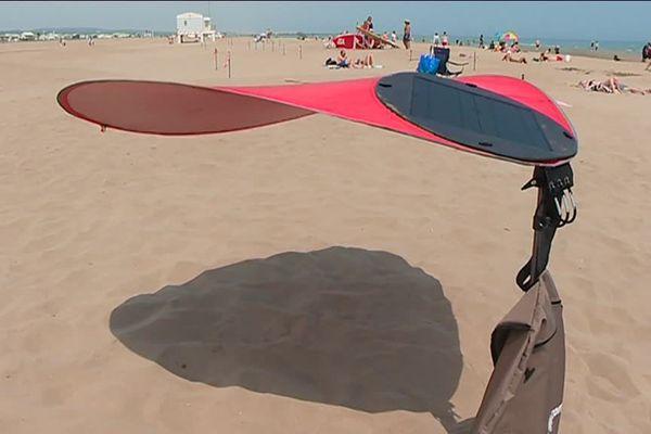 Un parasol que le vent n'emporte pas