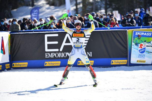 Le Norvégien Sebastian Foss-Solevaag a remporté dimanche le slalom des championnats du monde de ski alpin à Cortina d'Ampezzo