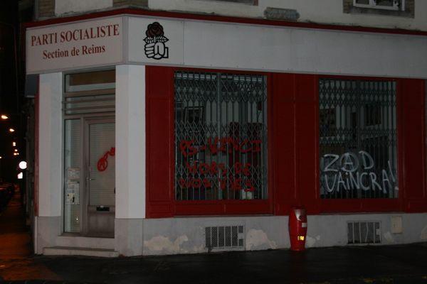 Tags Parti Socialiste (Section de Reims) - 46, rue Vernouillet
