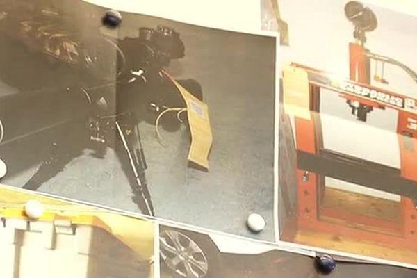 Photos du matériel saisi par le SRPJ de Montpellier