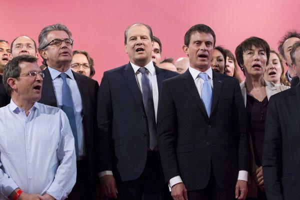 Christophe Borgel (à gauche) appelle à l'unité de la gauche