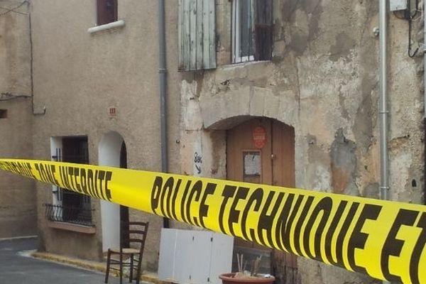 La rue Mirabeau à Villeneuve-les-Béziers, domicile de la victime